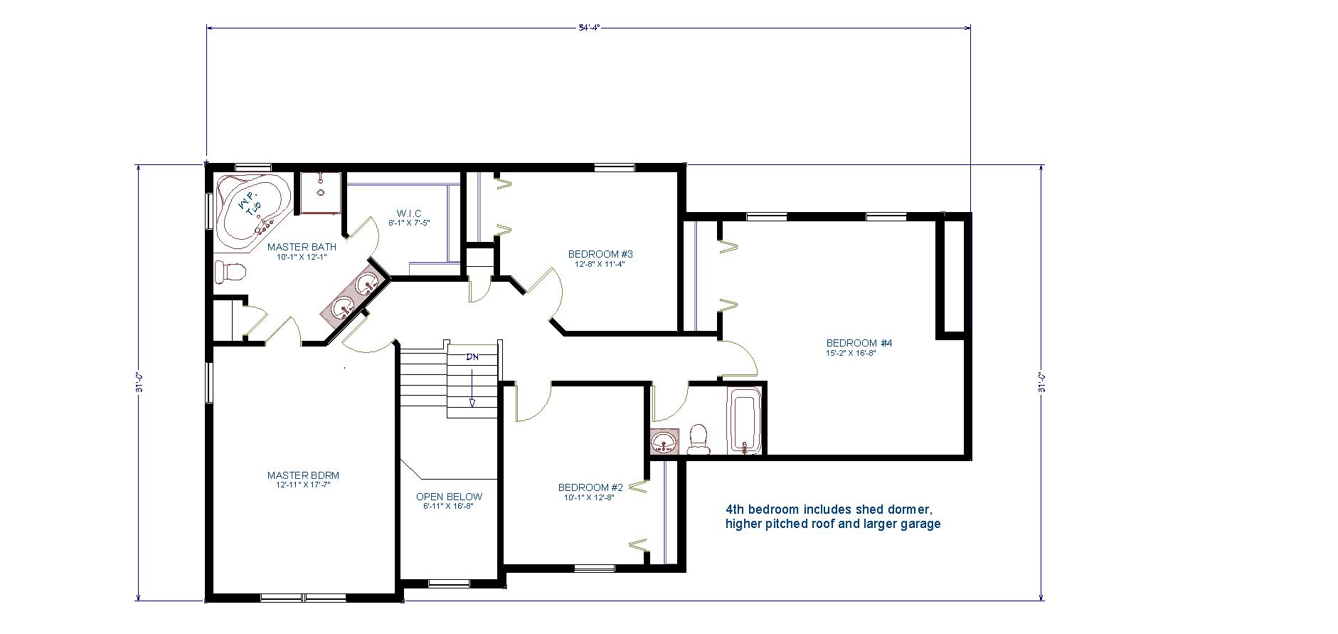 4 Rooms - 2.5 Bathrooms Two - Story