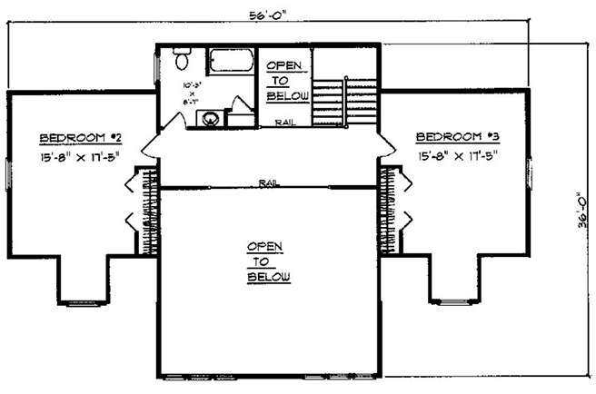 3 Rooms - 2.5 Bathrooms Two - Story 1036